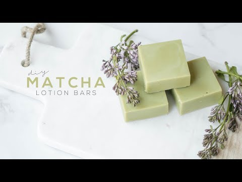 DIY MATCHA SOLID LOTION BARS