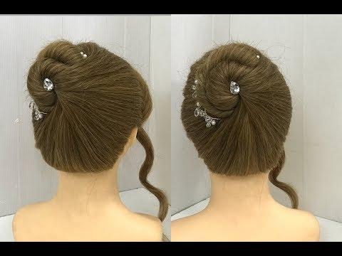 Beautiful Bun with Single Twist : Easy Hairstyles