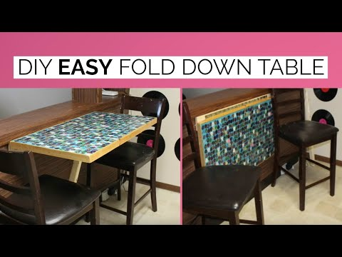 DIY WALL MOUNTED FOLD DOWN TABLE