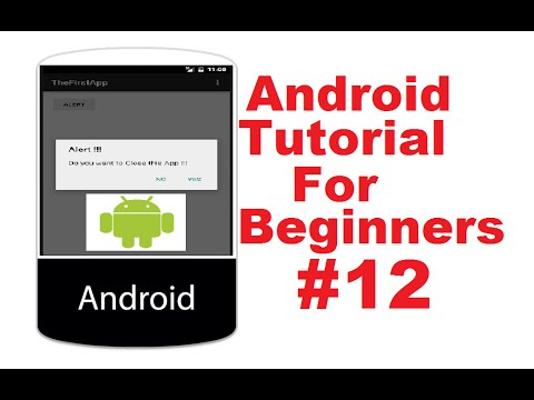 Android Tutorial for Beginners 12 # Android Alert Dialog Example