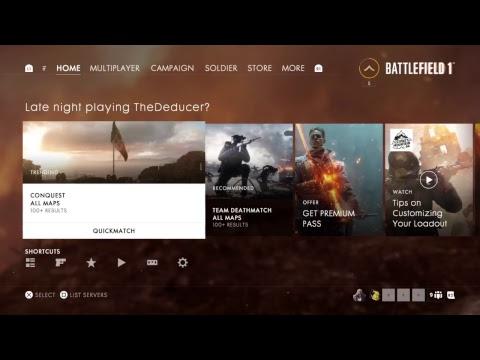 Battlefield 1 Live Gameplay