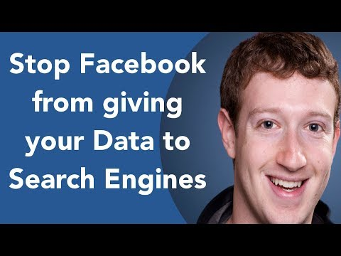 Stop Facebook from giving Search Engines your Data