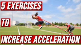 5 DYNAMIC RESISTANCE DRILLS FOR EXPLOSIVE ACCELERATION // Speed Training
