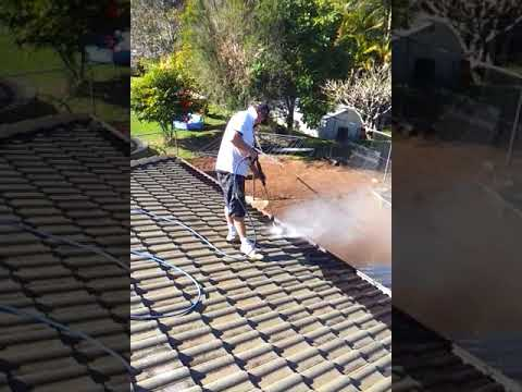 1  Full procedure for roof tile repaint, cleaning roof before repainting tiles - Noosa Qld (part 1)