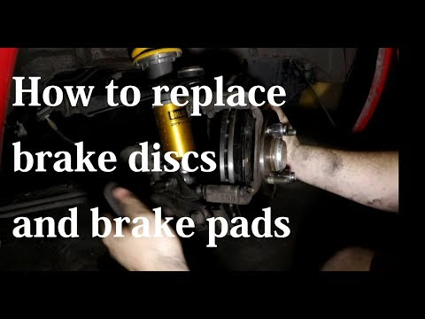 Miata front brake rotor and brake pads replacement