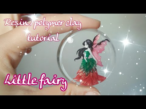 tutorial polymer clay / resin // Little Fairy