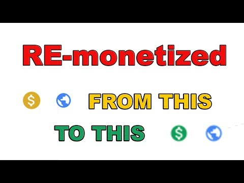 RE-monetized: how to go from demonetized to monetized (from limited or no ads)