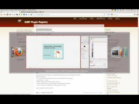 how to export multiple pdf pages to multiple png files using Gimp and a plugin