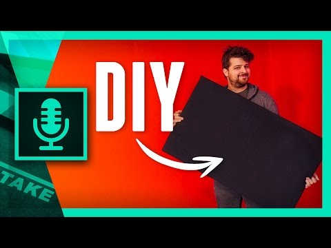 DIY SOUND ABSORPTION PANELS for Home Recording Studio | Cinecom.net