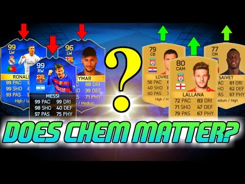 DOES CHEMISTRY MATTER IN FIFA 16? - FIFA 16 ULTIMATE TEAM