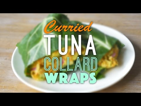 Curried Tuna Collard Wraps