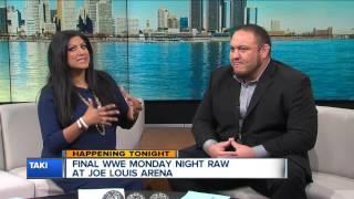 WWE Superstar Samoa Joe previews RAW in Detroit