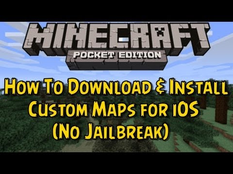 Minecraft PE - How To Download & Install Custom Maps for iOS (No Jailbreak)