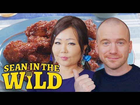 How to Make Spicy Korean Fried Chicken with Maangchi | Sean in the Wild