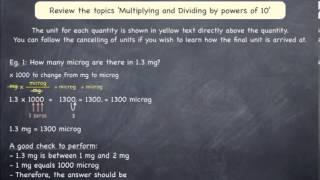 Converting Between Micrograms Mg G And Kg Examples Part 1