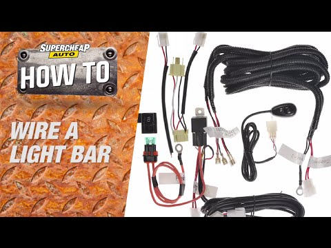 How to - Wire a LED Light Bar // Supercheap Auto