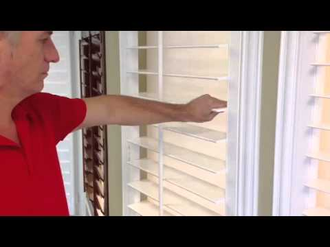 Wood Shutter Louver Tension Adjustment