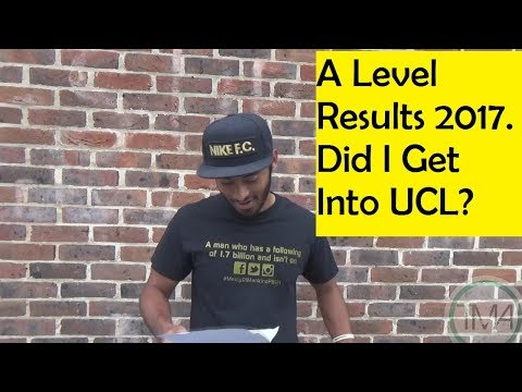 OPENING A LEVEL RESULTS LIVE 2017- DID I GET INTO UCL??