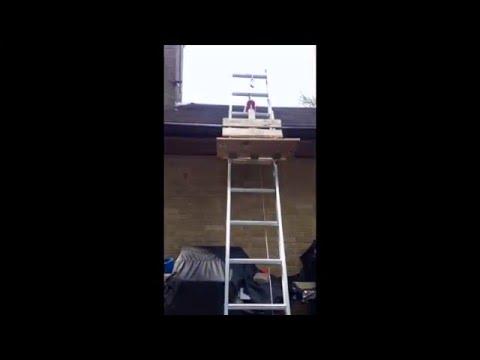 Roofing Shingle Lift, Hoist Elevator, DIY, Homemade