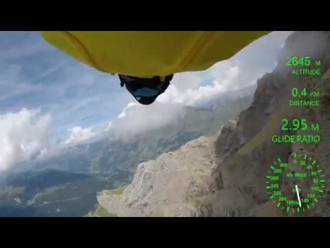 How far can a wingsuit fly?