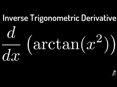 Inverse Trigonometric Derivatives f(x) = arctan(x^2)