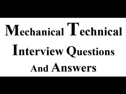 Mechanical Engineering Technical Interview Questions And Answers for Placement