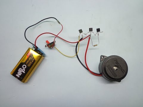 how to make a one touch sensor with buzzer