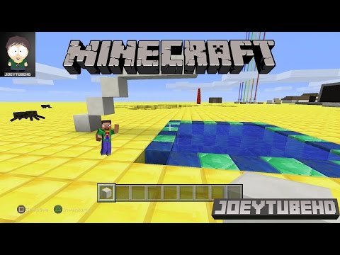 Minecraft PS4 - How to Build a Swimming Pool With Diving Board