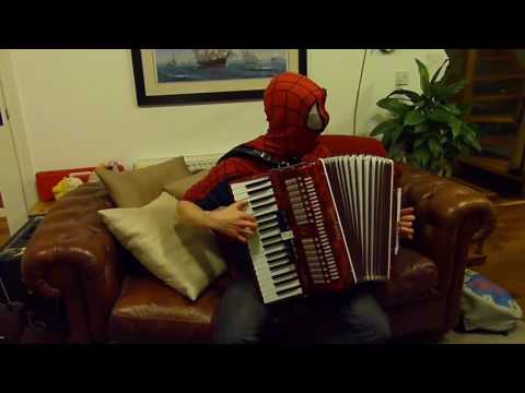 Spiderman plays the pizza song (from spiderman 2 the game)