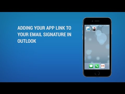 How to Add Your App Link to Your Email Signature in Outlook
