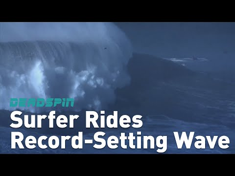 Surfer Rides Record-Setting Wave
