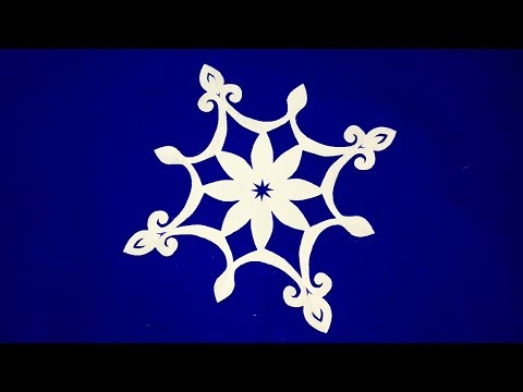 paper cutting#How to make easy paper cutting flowers step by step//easy paper craft