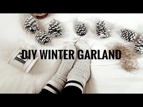 DIY Pinecone Christmas Garland