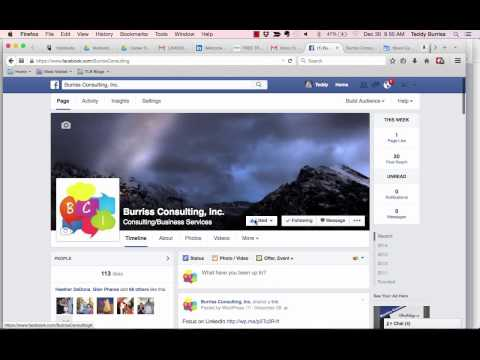 Sharing a Facebook Business Page with your Facebook Friends