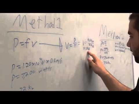 Physics power equation