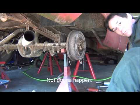 Replacing the rusty u bolts on the 66 F 100. Part 1