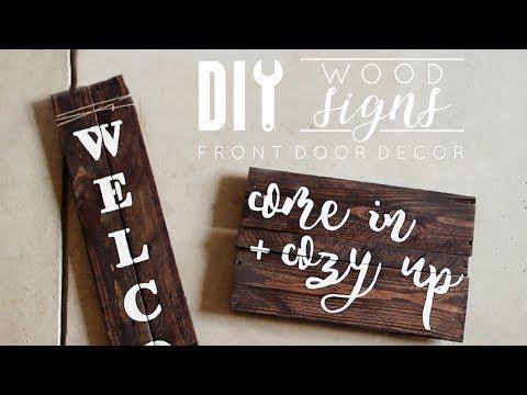 DIY Wood Signs   Front Door Decor