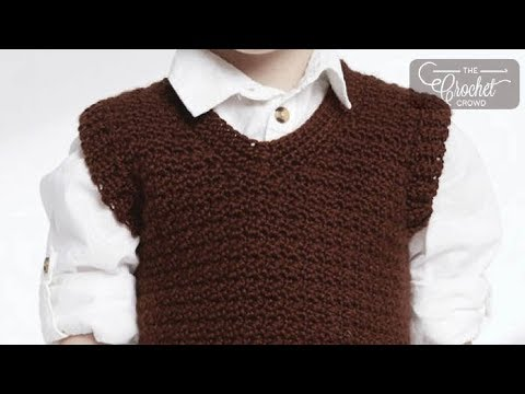How To Crochet Boys Vest: 2 - 10 Years Old