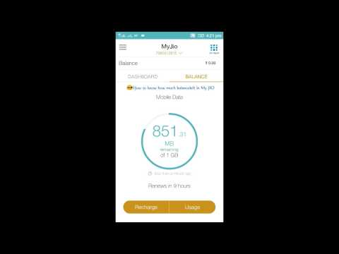 How to check how much data balance left in Jio