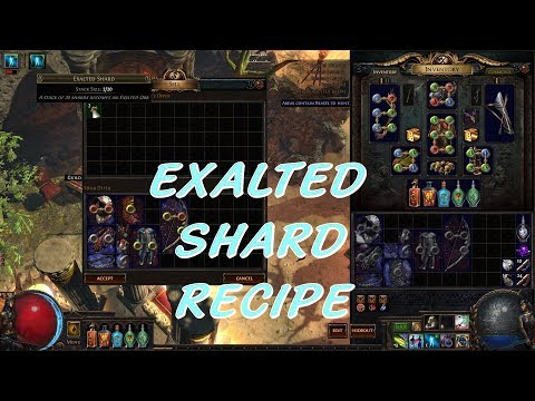 Path of Exile | New Recipe - Exalted Shard