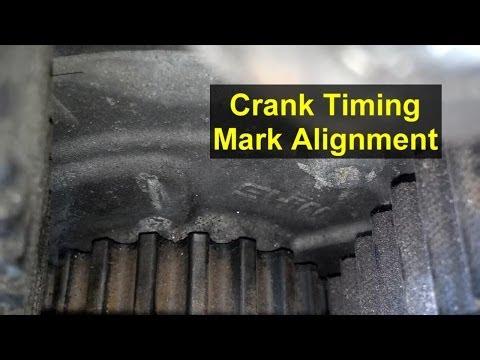 Timing mark crank sprocket location, Volvo 850, S70, V70, XC70 - VOTD