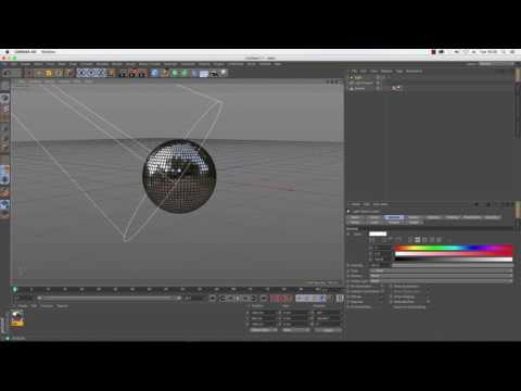 Cinema 4D Tutorial - How to Make a Disco Ball