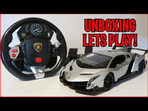 UNBOXING & LETS PLAY - 1/14 Scale Lamborghini Veneno RC car - FULL REVIEW! By Best Choice Products