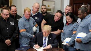 Trump kills off steelworker