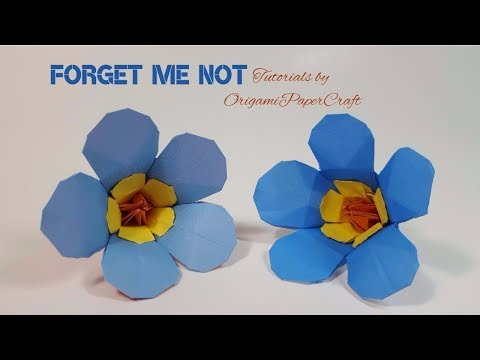 Origami:  Forget Me Not Flower/ Scorpion Grasses || OrigamiPaperCraft