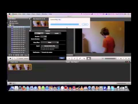 How to Reverse Videos In iMovie 09