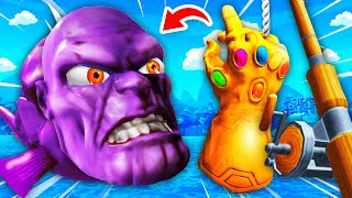 NEW Catching SECRET THANOS FISH With INFINITY GAUNTLET (Crazy Fishing VR Funny Gameplay)