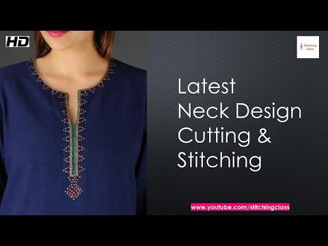Latest & trendy Neck design for kurti, kameez, Suit, Neck design cutting and stitching
