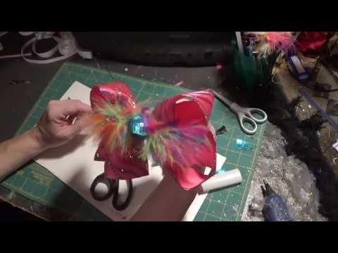 Making hair bows with wired ribbon after the wire is removed
