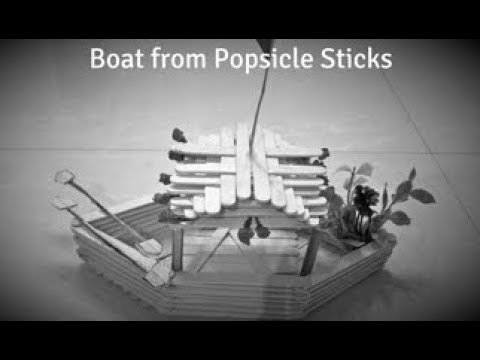 DIY | How to make boat with popsicle sticks | Boat from ice cream stick craft |